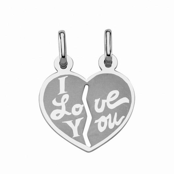 """Freundschaftsanhänger Herz 925 Sterling Silber """"I love You"""""""