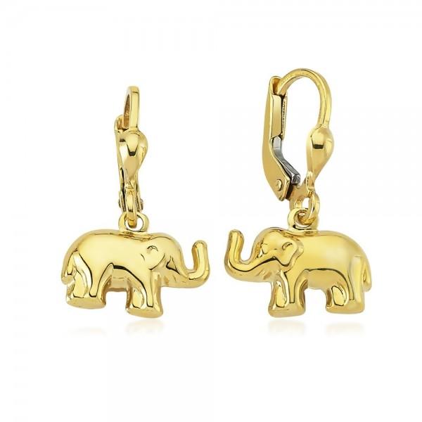 Ohrhänger Elefant 333er Gold