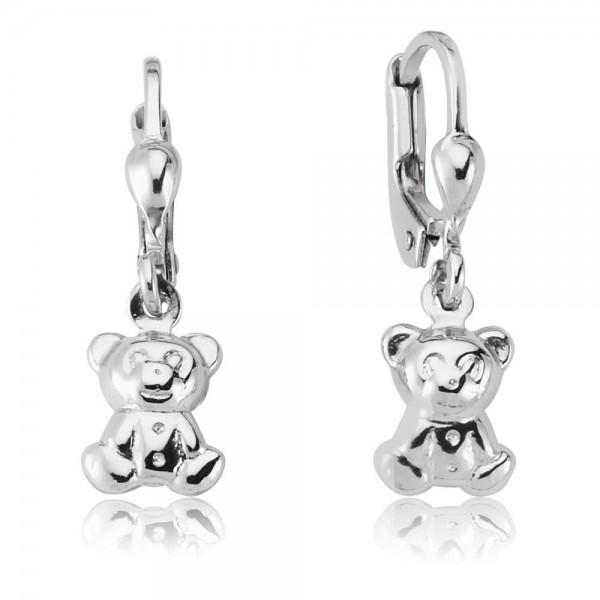 Ohrhänger Teddybär 925 Sterling Silber