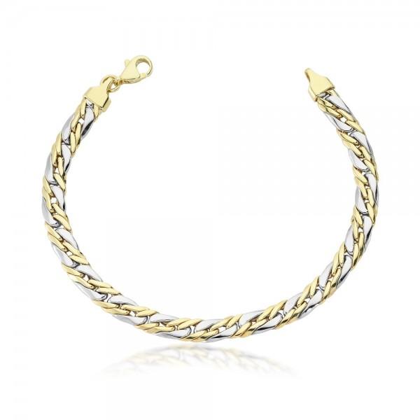 Armband 333er Gold Bicolor