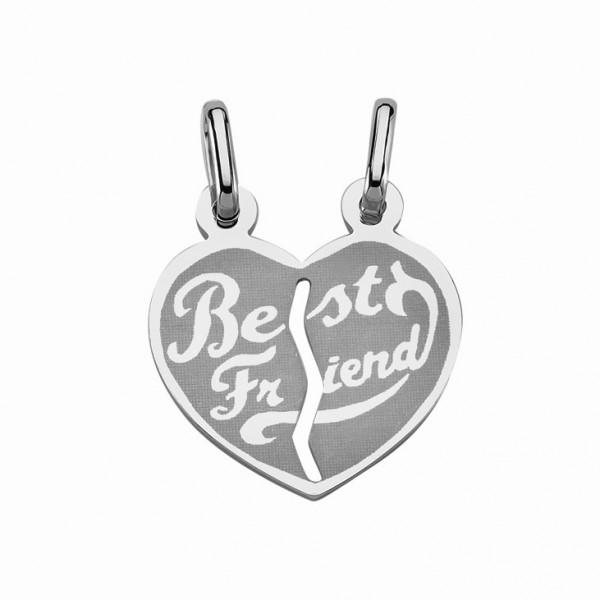 """Freundschaftsanhänger Herz 925 Sterling Silber """"Best Friend"""""""