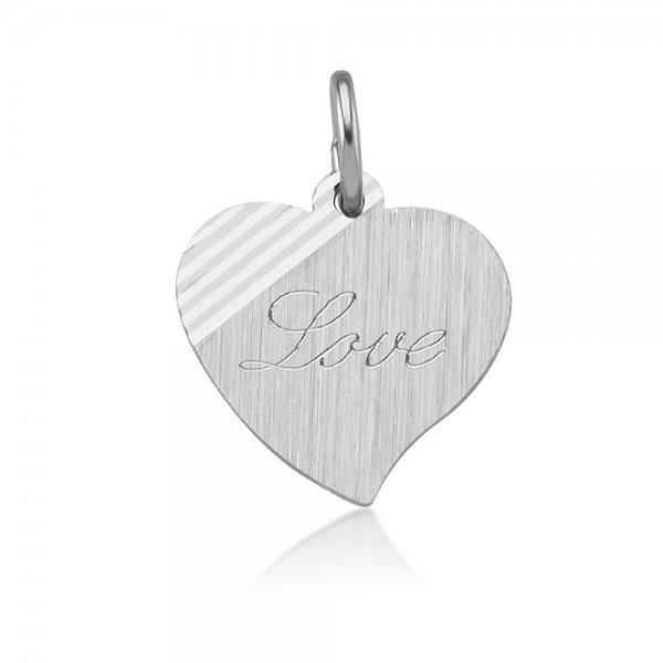 "Anhänger Herz 925 Sterling Silber ""Love"""