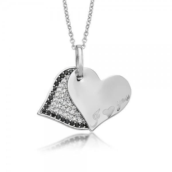 Anhänger Herz 925 Sterling Silber Zirkonia