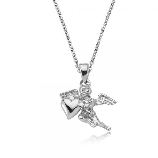 Anhänger Engel mit Herz 925 Sterling Silber