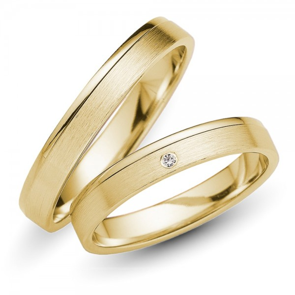 Trauringe 333er Gelbgold Brillant 0,01 ct.