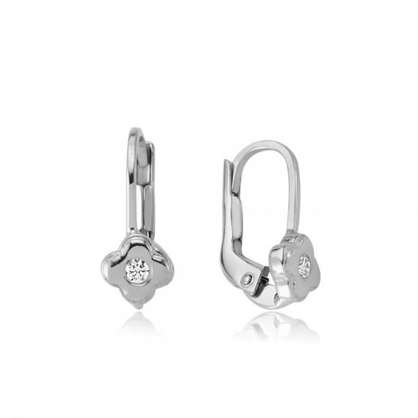 Ohrhänger 925 Sterling Silber Zirkonia