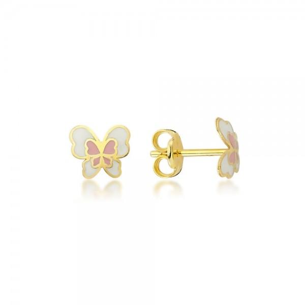 Ohrstecker Schmetterling 375er Gold