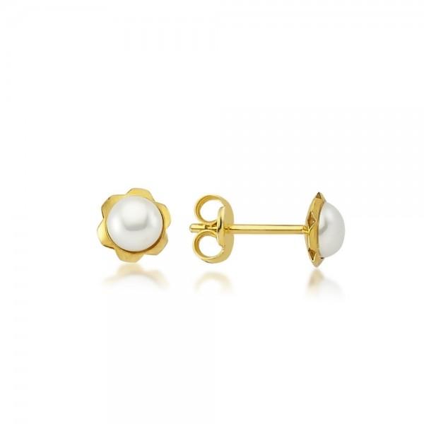 Ohrstecker 375er Gold Perle