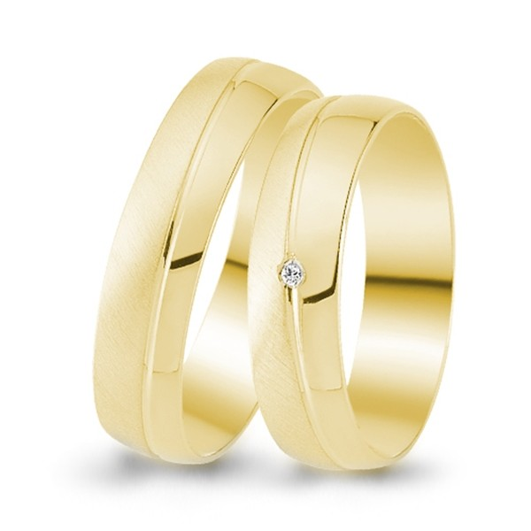 Trauringe 333er Gelbgold 0,005 ct. Brillant