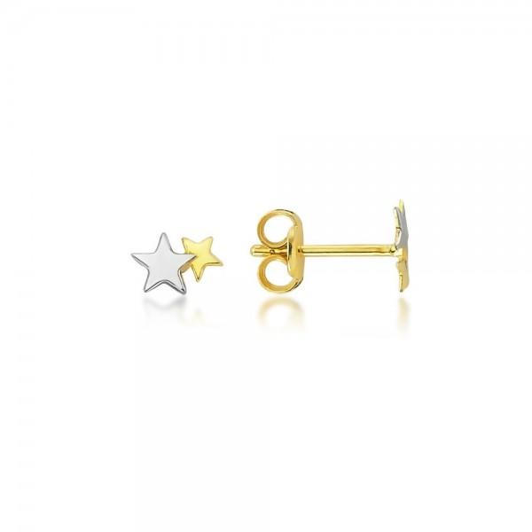 Ohrstecker Sterne 375er Gold