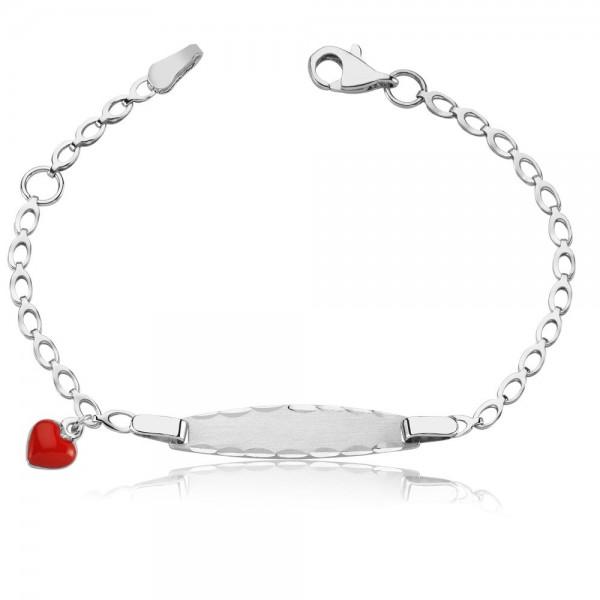 Kinderarmband 925 Sterling Silber Gravur Herz