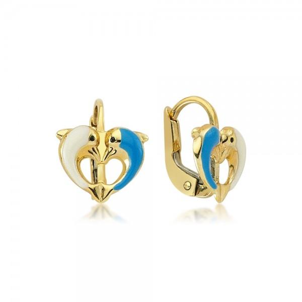 Ohrhänger Delphine 333er Gold