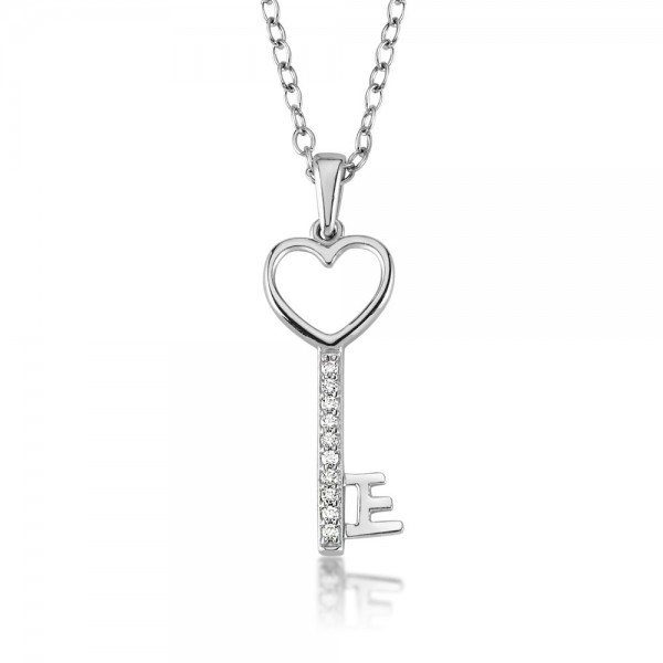 Anhänger Schlüssel 925 Sterling Silber Zirkonia