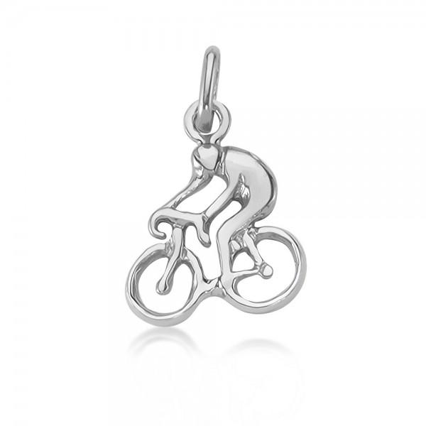 Anhänger Fahrradfahrer 925 Sterling Silber