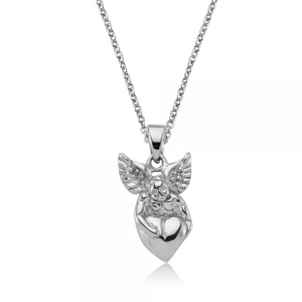 Anhänger Engel-Herz 925 Sterling Silber