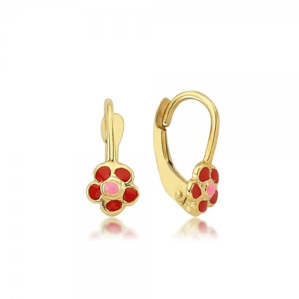 Ohrhänger Blume 333er Gold