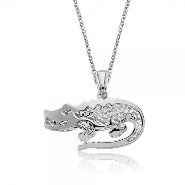 Anhänger Krokodil 925 Sterling Silber