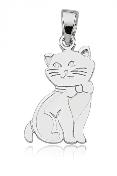 Anhänger Katze 925 Sterling Silber