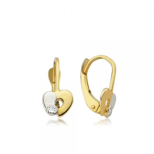 Ohrhänger Herz 333er Gold Zirkonia