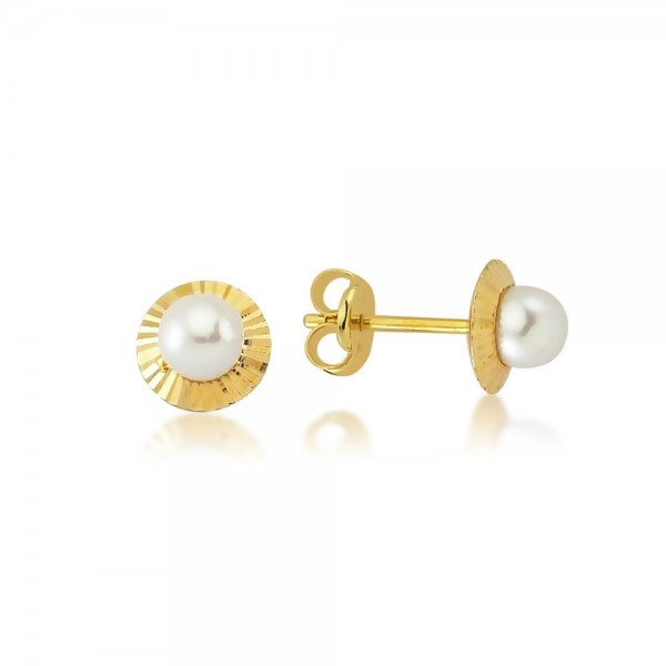 Ohrstecker Perle 375er Gold