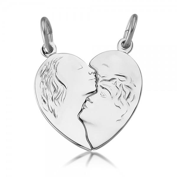 Freundschaftsanhänger Herz 925 Sterling Silber
