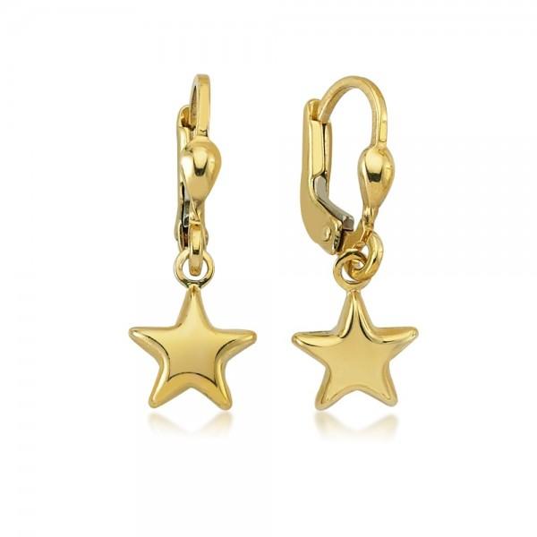 Ohrhänger Stern 333er Gold