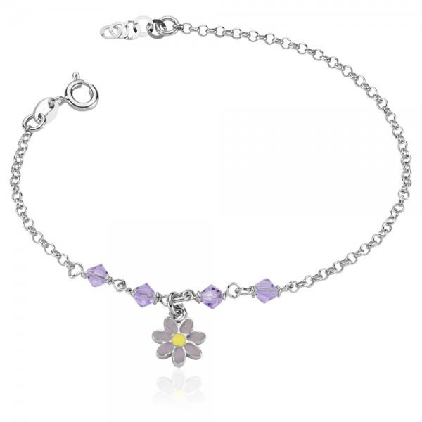 Kinderarmband Blume 925 Sterling Silber