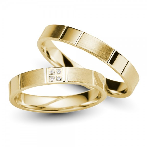 Trauringe 333er Gelbgold Brillant 0,02 ct.