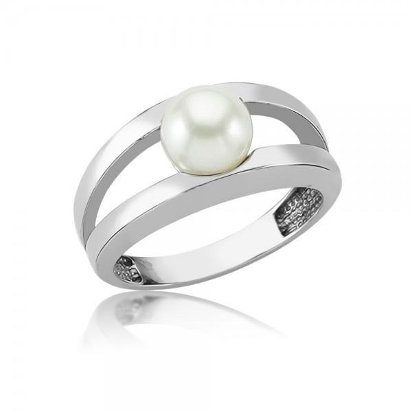 Damenring 925 Sterling Silber Perle