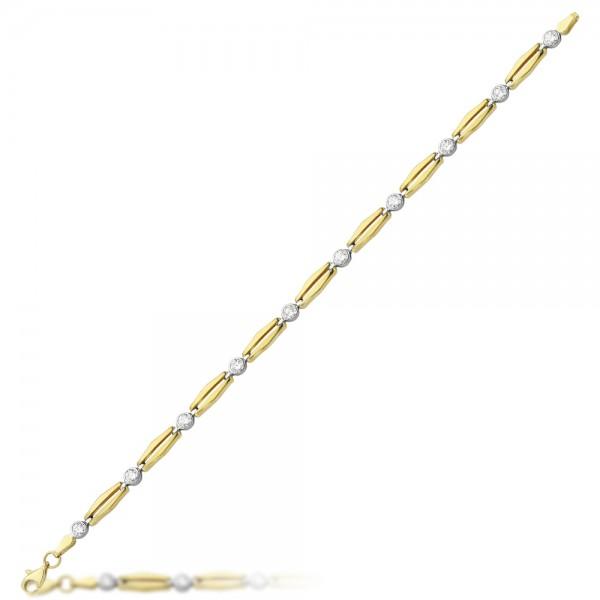 Armband 333er Gold Zirkonia