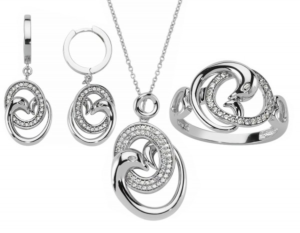 Schmuckset 925 Sterling Silber Zirkonia