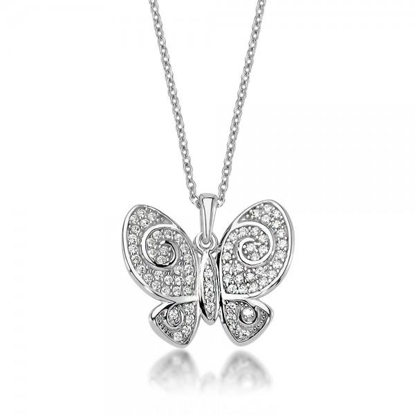 Anhänger Schmetterling 925 Sterling Silber Zirkonia