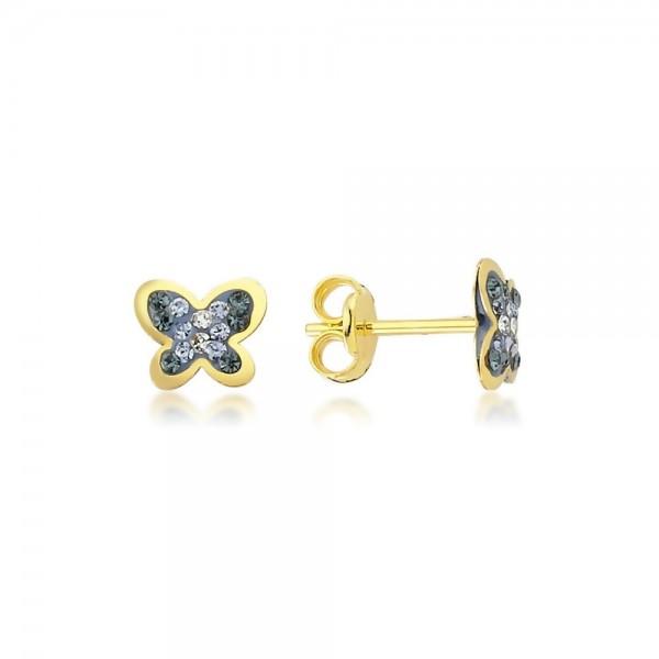 Ohrstecker Schmetterling 375er Gold Zirkonia