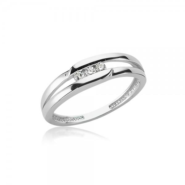 Damenring 925 Sterling Silber Zirkonia