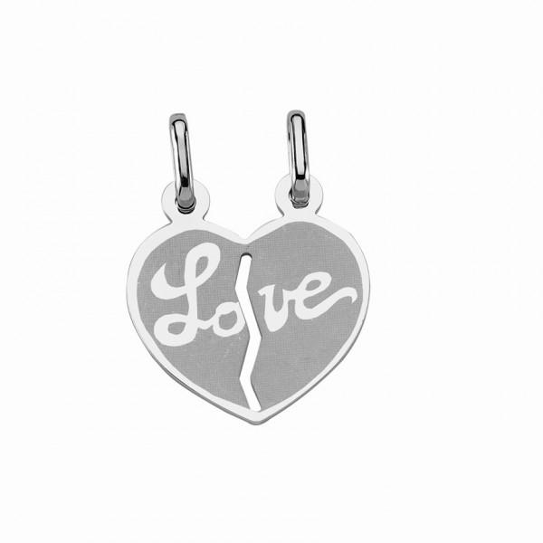 """Freundschaftsanhänger Herz 925 Sterling Silber """"Love"""""""