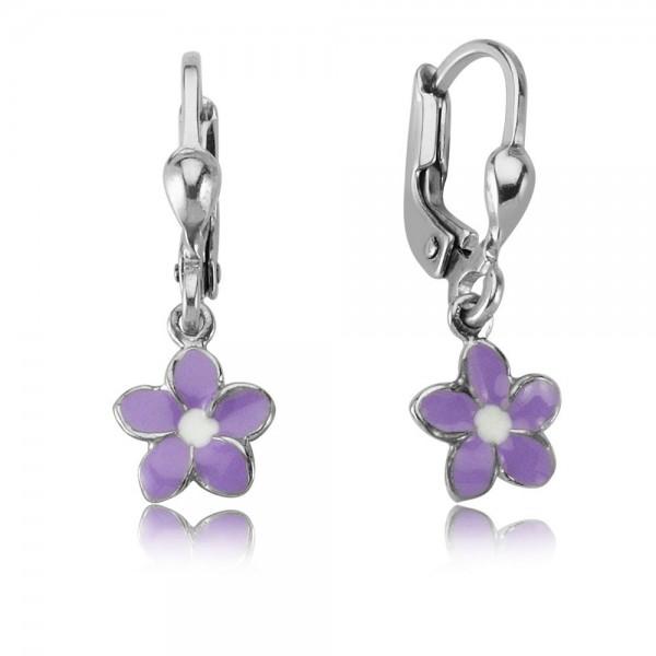 Ohrhänger Blume 925 Sterling Silber