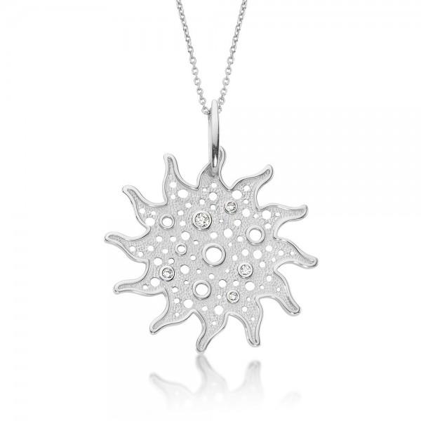 Anhänger Sonne 925 Sterling Silber Zirkonia
