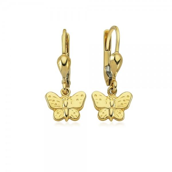 Ohrhänger Schmetterling 333er Gold