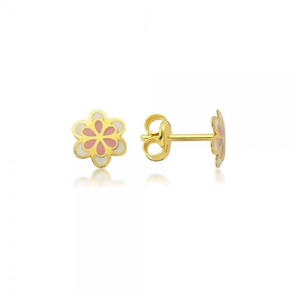 Ohrstecker Blume 375er Gold