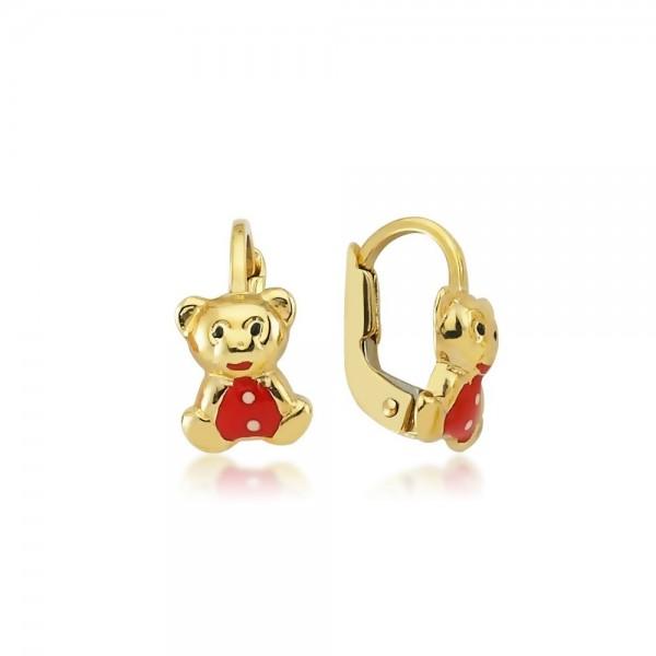 Ohrhänger Teddybär 333er Gold
