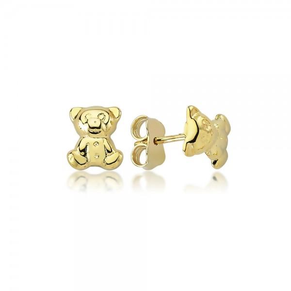 Ohrstecker Teddybär 375er Gold