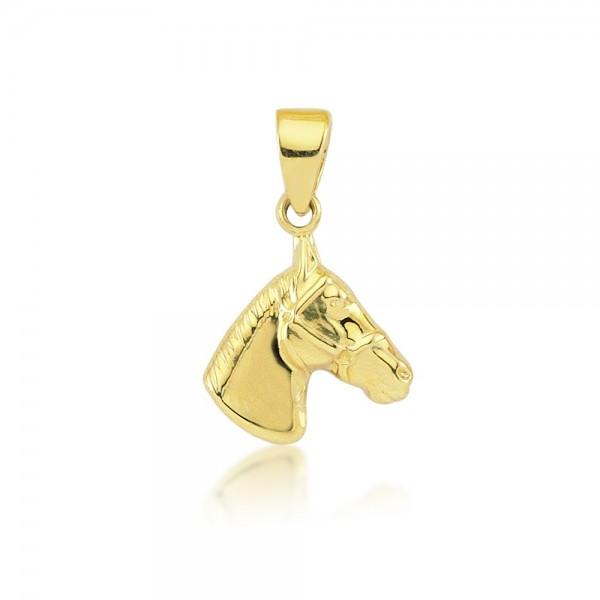 Anhänger Pferd 333er Gold