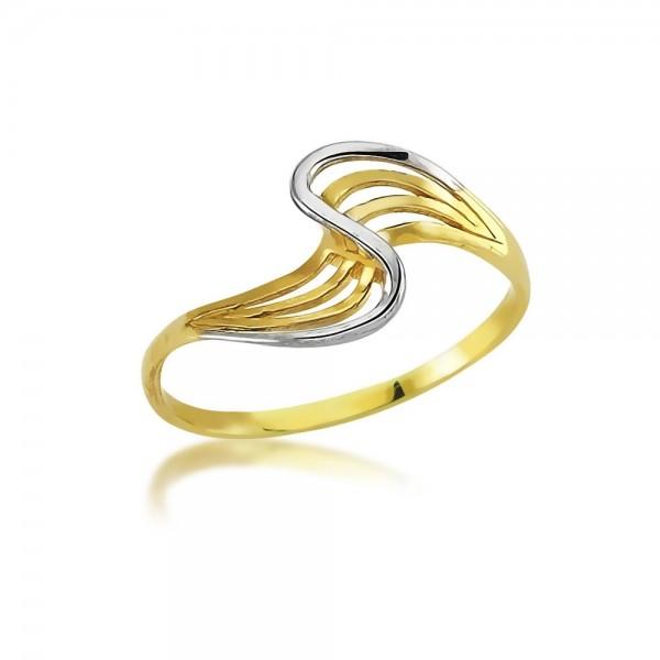 Damenring Bicolor 333er Gold