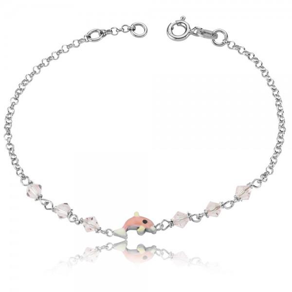 Kinderarmband Delphin 925 Sterling Silber
