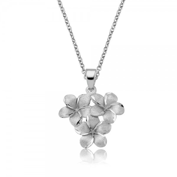 Anhänger Blumen 925 Sterling Silber