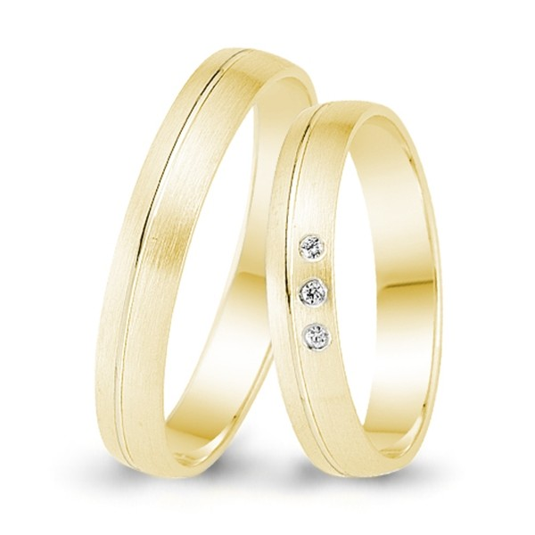 Trauringe 333er Gelbgold 0,015 ct. Brillant