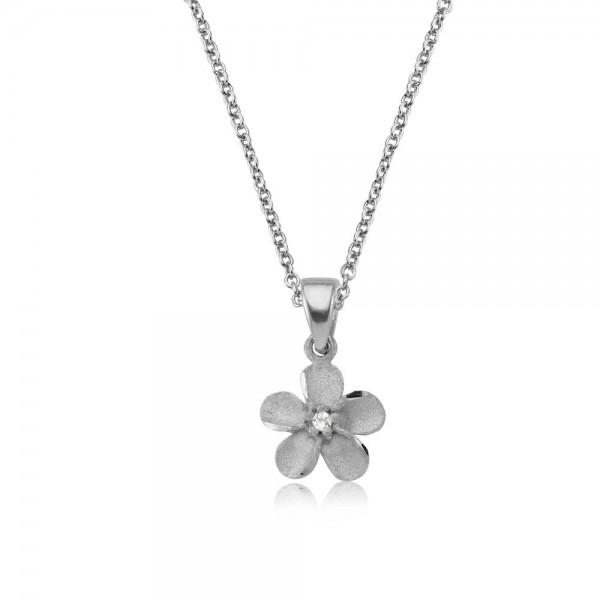 Anhänger Blume 925 Sterling Silber