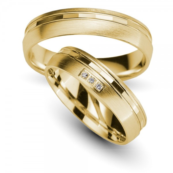 Trauringe 333er Gelbgold Brillant 0,03 ct.