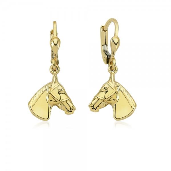 Ohrhänger Pferd 333er Gold