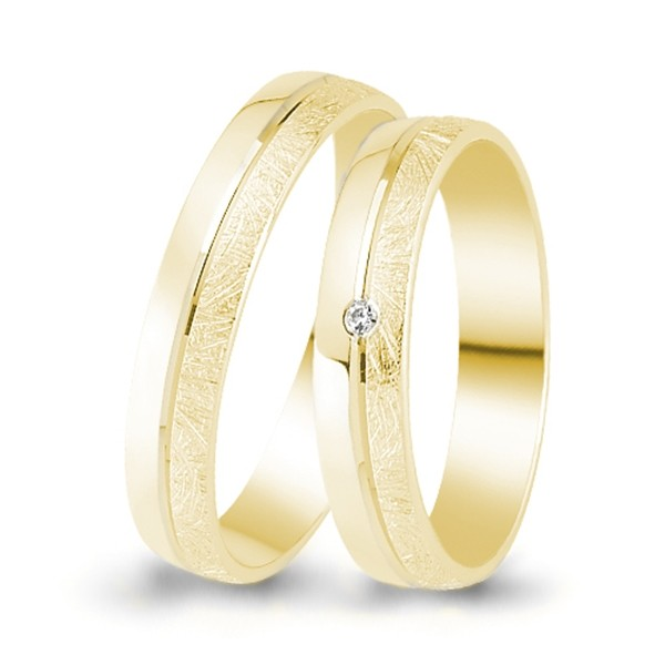 Trauringe 333er Gelbgold 0,01 ct. Brillant